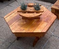table basse exterieur (objet et meuble en palette)