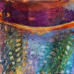 """Abstract Artists International: Mixed Media Abstract Painting """"PARALLEL WORLDS""""…"""