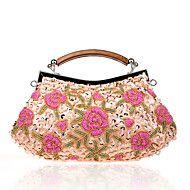 L.west+Women+Elegant+High-grade+Sequins+Beaded+Flower+Evening+Bag+–+AUD+$+71.50