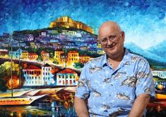 Just discovered Leonid Afremov, yeah, the guy in front of his painting. :) Click on it to go to his site - VIBRANT COLORS!! Love it!!!!