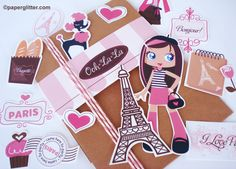 scrapbook embellishments <3 Paris <3