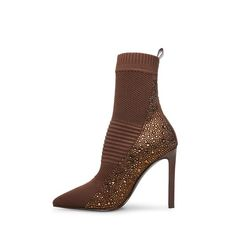 Steve Madden Store, Brown Shades, 4 Inch Heels, Kid Shoes, Heeled Boots, Stiletto Heels, Peep Toe, Booty