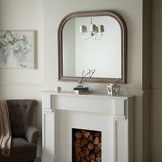 Buy John Lewis Distressed Overmantel Mirror, 95 x 104cm Online at johnlewis.com