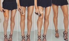 Beauty bloggers are now using the contouring make-up trick for perfect legs