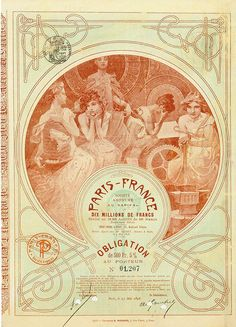 HWPH AG - Historische Wertpapiere - Paris-France Société Anoynme Paris, 25.05.1898, 5% Obligation über 500 Francs, #1207