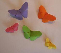 Schmetterling falten Origami ohne Kleber
