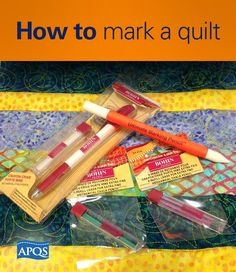 Many times the key to beautiful quilting is meticulous marking. When determining what marking tool to choose the quilter needs to consider how they will be getting those marks out as it will influence which marking method to use. Read our tips...