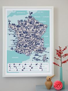 New France map from Famille Summerbelle! Learn the regions of France.