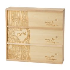 What a thoughtful gift for a wedding... you can select your own wines that will mature in time for the specified anniversaries!    CUSTOM WINE BOX | Personalized Wedding Wine Box | UncommonGoods
