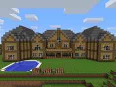 I love how it looks like three houses, it is a huge looking mansion. i wish i had that talent.