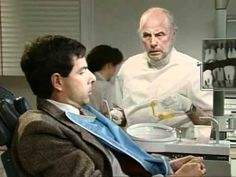 Mr Bean Dentist Always interesting what you can find when you type in cosmetic dentist and other related terms Mr Bean Episodes, Full Episodes, Mr. Bean, Mr Bean Funny, Blackadder, Dental Humor, British Comedy, Funny Clips