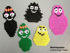 Barbapapa family hama perler beads