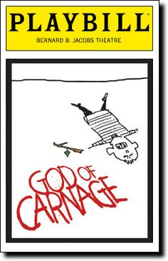 God of Carnage Playbill Covers on Broadway - Information, Cast, Crew, Synopsis and Photos - Playbill Vault Broadway Themed Room, Broadway Party, Broadway Nyc, Broadway Plays, Broadway Theatre, Theatre Plays, Theatre Shows, Theatre Geek, Music Theater