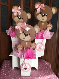10 Teddy bear centerpieces/ girl baby shower 2019 Teddy bear centerpieces/ girl baby shower de JoliesInvitation en Etsy The post 10 Teddy bear centerpieces/ girl baby shower 2019 appeared first on Baby Shower Diy. Teddy Bear Party, Teddy Bear Birthday, Teddy Bear Baby Shower, Teddy Bears, Teddy Bear Centerpieces, Baby Shower Centerpieces, Baby Girl Shower Themes, Baby Shower Decorations For Boys, Deco Baby Shower