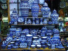 puebla mexico talavera - Blue & White Plateware   Artesanias ...