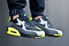Nike-Air-Max-90-Leather-Neon -Repin and get nike air max fast.