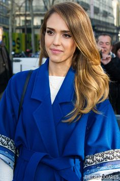 Jessica Alba at the Kenzo Fall-Winter 2013/2014 Ready-to-Wear Fashion Show at the Samaritaine in Paris, France - March 3, 2013
