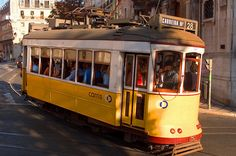 Lisbon, Portugal - Trolley in the Alfama District