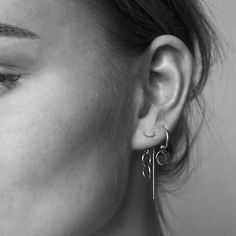 Anna Nooshin Single Disc Hoop Earring Silver - ANNA+NINA