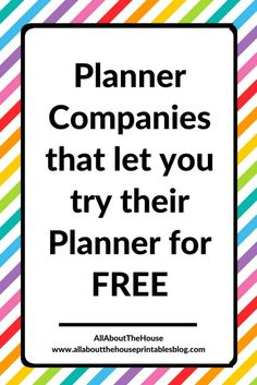 planner companies that let you try their planner for free roundup printable planner insert review refills a5 personal size filo http://www.allaboutthehouseprintablesblog.com/planner-companies-that-will-let-you-download-print-and-try-their-planner-layout-for-free/
