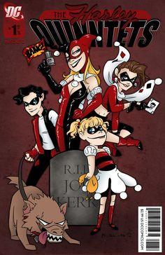 The Harley Quinntets by msciuto.deviantart.com on @deviantART