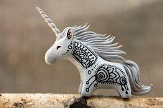 MADE TO ORDER Zen Doodle Unicorn Horse Totem Figurine
