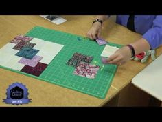 Quilting Quickly: Layer it Up - Single Quilt Block Batik Quilt Pattern - YouTube