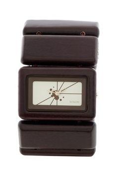 The Vega Women's Dark Wood Watch