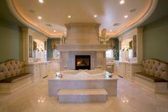 Banheiros luxuosos - Veja inspirações bacanas. Bora lá no blog, galera!
