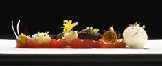 "Alinea - Tomato: Where food is an art form and technology the means to ""question convention"".    http://www.alinea-restaurant.com/"