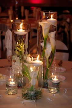Such a beautiful way to present lillies and bling!