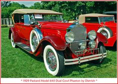 1929 Packard Model 645 Dual Cowl Phaeton | The June 27 judgi… | Flickr Vintage Cars, Antique Cars, Convertible, New Things To Learn, Nice Things, Old Classic Cars, Dream Garage, Sexy Cars, Car Photos