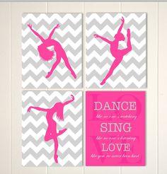 Teen girl wall art dance wall art modern dance art girls