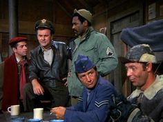 """Hogan's Heroes,"" one of the best ensemble casts in TV history. Somehow they managed to make a WWII P.O.W. camp hilarious for six years."