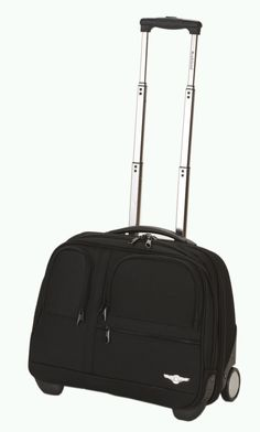 Rockland Luggage Rolling Computer Case, Black, Medium