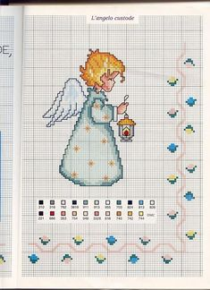 free angel cross stitch patterns to print Cross Stitch Skull, Xmas Cross Stitch, Cross Stitch Angels, Cross Stitching, Cross Stitch Embroidery, Hand Embroidery, Cross Stitch Patterns, Cross Stitch Christmas Ornaments, Christmas Cross