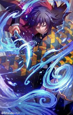 This Demon Slayer: Kimetsu no Yaiba Tomioka Giyuu Uniform Cosplay Costume is True to size, better quality and comfortable fabric, All the costumes are designed accurately, exquisite in details. make your cosplay more real. Otaku Anime, Anime Boys, M Anime, Fanarts Anime, Anime Demon, Anime Art, Demon Slayer, Slayer Anime, Manga Japan