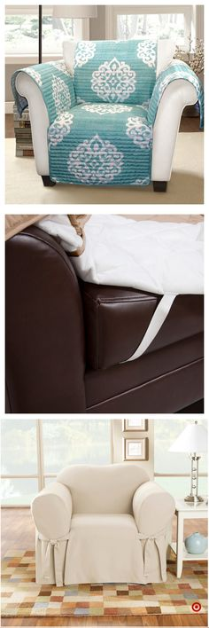 Shop Target for chair slipcover you will love at great low prices. Free shipping on orders of $35+ or free same-day pick-up in store. Diy Furniture, Furniture Covers, Chair Covers, Sewing Projects For Beginners, Home Projects, Home Decor, Beach House Decor, Free Sewing, Sewing Patterns Free