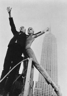 Andy Warhol and Eddie Sedgwick.