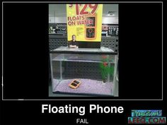 Floating Phone Fail!