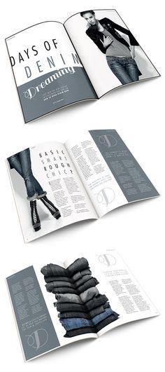 Best Adobe InDesign Tutorials of Year 2015 Magazine Design Inspiration, Magazine Layout Design, Graphic Design Inspiration, Fashion Magazine Layouts, Fashion Layouts, Style Inspiration, Adobe Indesign, Indesign Layouts, Brochure Layout