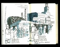 """Enrique Flores. """"Cuaderno de Sol. Diario gráfico del 15M"""". Merece la pena verlo completo en su blog Cuatro Cosas"""