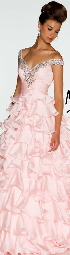 Mac Duggal couture dress blush #long #formal #dress BALL GOWNS  STYLE 4961H