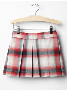 CHEAP PLAID FLANNEL PLEATED GIRL'S SKIRT Price : $9.99