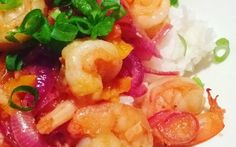 Sriracha Shrimp on Rice