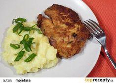 Květákové karbanátky se sýrem Mashed Potatoes, Pork, Vegetarian, Meat, Chicken, Ethnic Recipes, Simple, Whipped Potatoes, Kale Stir Fry
