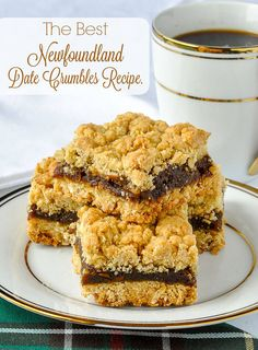 Date Crumbles (or Date Squares) is a recipe every local family knows and loves. The secret is having the right proportion of butter in the crumble and this recipe gets it just right. Date Crumbles (or Date Squares) is a recipe every local fam. The Oatmeal, Rock Recipes, Date Recipes, Baking Recipes, Cookie Recipes, Dessert Recipes, Baking Tips, Bread Baking, Dessert Ideas
