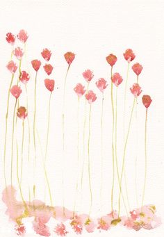 Art Painting - Original watercolor flower 8x11, floral decor, summer home decor…