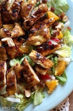 Sałatka z kurczakiem w karaibskiej marynacie Ketogenic Recipes, Low Carb Recipes, Cooking Recipes, Healthy Recipes, Healthy Food, Appetizer Recipes, Salad Recipes, My Favorite Food, Favorite Recipes