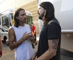 Brandon Boyd (Incubus) with Dave Grohl My favorite lead singer/song writers together life is good :)